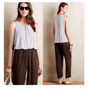 Anthropologie Elevenses Priya Casual Jumpsuit M